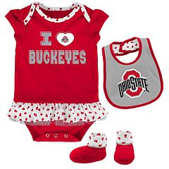 Baby Ohio State Buckeyes Team Love Bodysuit Set