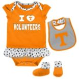 Baby Tennessee Volunteers Team Love Bodysuit Set