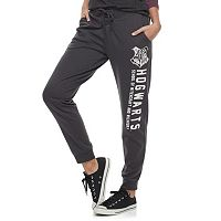 Juniors' Harry Potter Hogwarts Crest Lace-Up Graphic Sweatpants