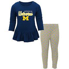 Baby Michigan Wolverines Tiny Trainer Tee & Leggings Set