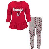Baby Ohio State Buckeyes Tiny Trainer Tee & Leggings Set