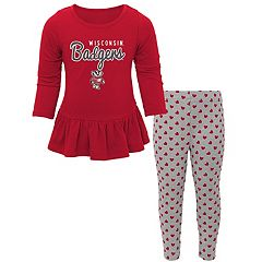 Baby Wisconsin Badgers Tiny Trainer Tee & Leggings Set