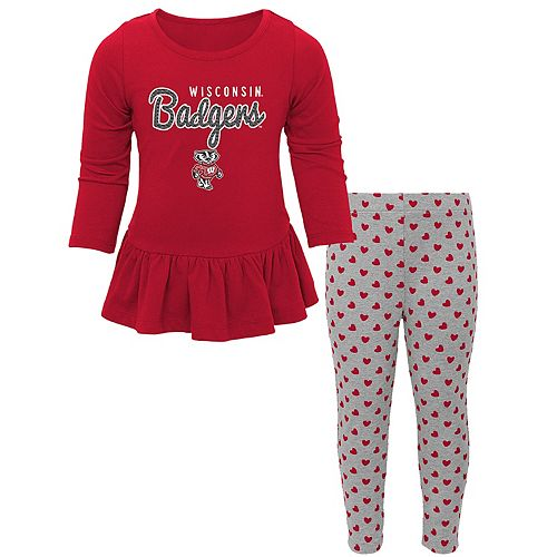 8d7f95a69c Baby Wisconsin Badgers Tiny Trainer Tee   Leggings Set