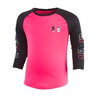 Girls 4-6x Under Armour Wordmark Raglan Long-Sleeved Tee