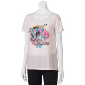 Juniors' Transformers High-Low Graphic Tee