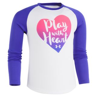 """Girls 4-6x Under Armour """"Play With Heart"""" Long-Sleeved Tee"""