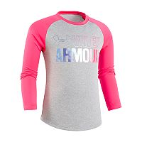 Girls 4-6x Under Armour Wordmark Gradient Raglan Long-Sleeved Tee
