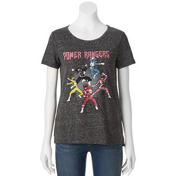 Juniors' Mighty Morphin Power Rangers Graphic Tee