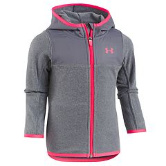 Girls 4-6x Under Armour Hundo Lightweight Fleece Hoodie