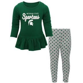 Baby Michigan State Spartans Tiny Trainer Tee & Leggings Set