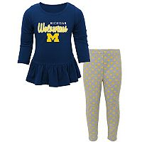 Baby Michigan Wolverines Tiny Trainer Tee & Leggings Set
