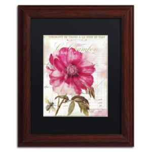 Trademark Fine Art Pink Peony Framed Wall Art