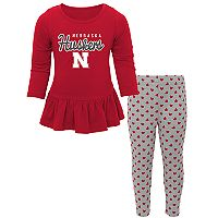 Baby Nebraska Cornhuskers Tiny Trainer Tee & Leggings Set