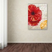 Trademark Fine Art Red Poppy Canvas Wall Art