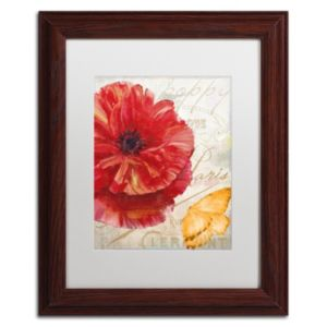 Trademark Fine Art Red Poppy Framed Wall Art
