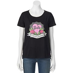 Juniors' Barbie 'I Can Be Anything' Rose Graphic Tee