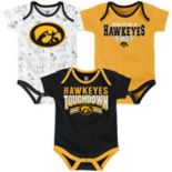 Baby Iowa Hawkeyes Playmaker 3-Pack Bodysuit Set