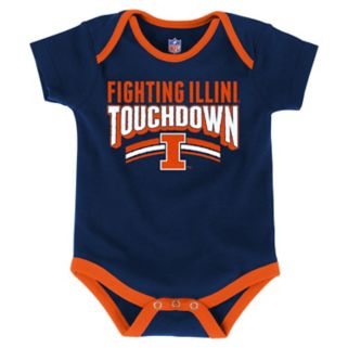 Baby Illinois Fighting Illini Playmaker 3-Pack Bodysuit Set