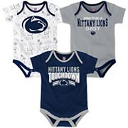 Baby Penn State Nittany Lions Playmaker 3-Pack Bodysuit Set