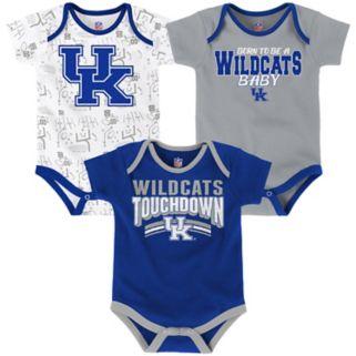 Baby Kentucky Wildcats Playmaker 3-Pack Bodysuit Set