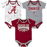 Baby Alabama Crimson Tide Playmaker 3-Pack Bodysuit Set