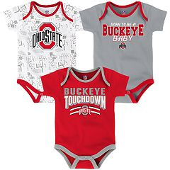 Baby Ohio State Buckeyes Playmaker 3-Pack Bodysuit Set