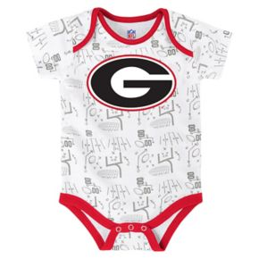 Baby Georgia Bulldogs Playmaker 3-Pack Bodysuit Set