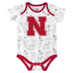 Baby Nebraska Cornhuskers Playmaker 3-Pack Bodysuit Set