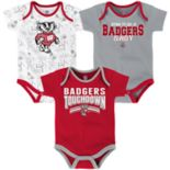 Baby Wisconsin Badgers Playmaker 3-Pack Bodysuit Set