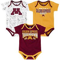Baby Minnesota Golden Gophers Playmaker 3-Pack Bodysuit Set