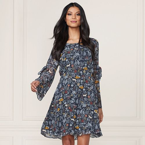 04e693eba7c0 LC Lauren Conrad Runway Collection Floral Fit & Flare Dress - Women's