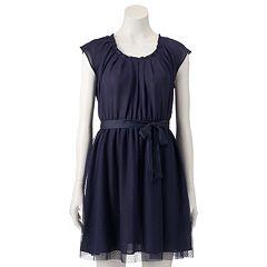 Women's LC Lauren Conrad Mesh Pleat Neck Dress