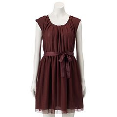 Women's LC Lauren Conrad Mesh Pleat Neck Dress