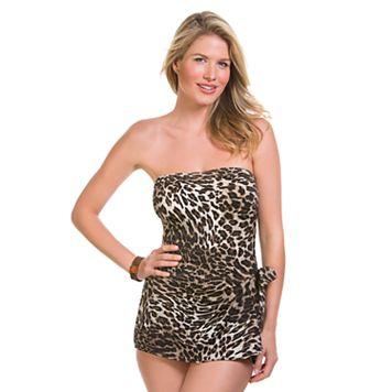 Women's Upstream Tummy Slimmer Bandeau One-Piece Swimsuit