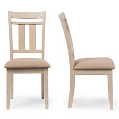 Baxton Studio Roseberry Dining Chair 2-piece Set