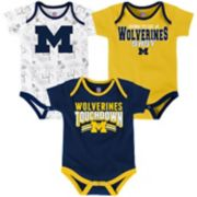 Baby Michigan Wolverines Playmaker 3-Pack Bodysuit Set