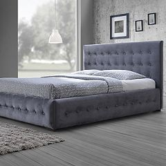 Baxton Studio Margaret Upholstered Velvet Queen Bed