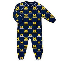 Baby Michigan Wolverines Team Logo Coverall