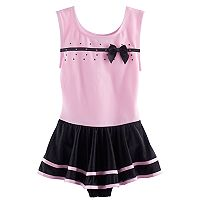 Girls 4-16 Jacques Moret Sleeveless Skirtall Leotard