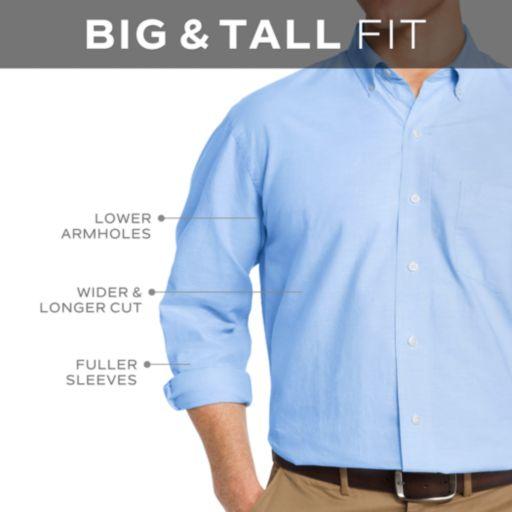 Big & Tall Men's IZOD Signature Slim-Fit Poplin Button-Down Shirt