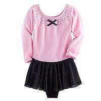 Girls 4-16 Jacques Moret 3/4-Sleeve Skirtall Leotard
