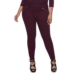 Plus Size Jennifer Lopez Zipper Accent Jeggings