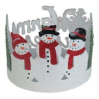 SONOMA Goods for Life™ Small Snowmen Candle Jar Holder