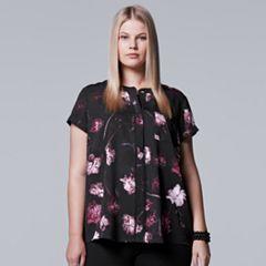 Plus Size Simply Vera Vera Wang Essential Popover Top