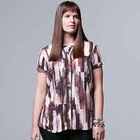 Plus Size Simply Vera Vera Wang Popover Top