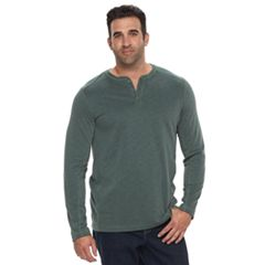 Big & Tall Croft & Barrow® Classic-Fit Outdoor Slubbed Performance Henley