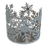 SONOMA Goods for Life™ Large Glitter Snowflake Candle Jar Holder