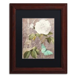 Trademark Fine Art White Rose Paris Framed Wall Art