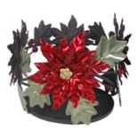 SONOMA Goods for Life™ Large Poinsettia Candle Jar Holder