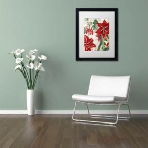 "Trademark Fine Art Amaryllis ""Paris"" Black Framed Wall Art"